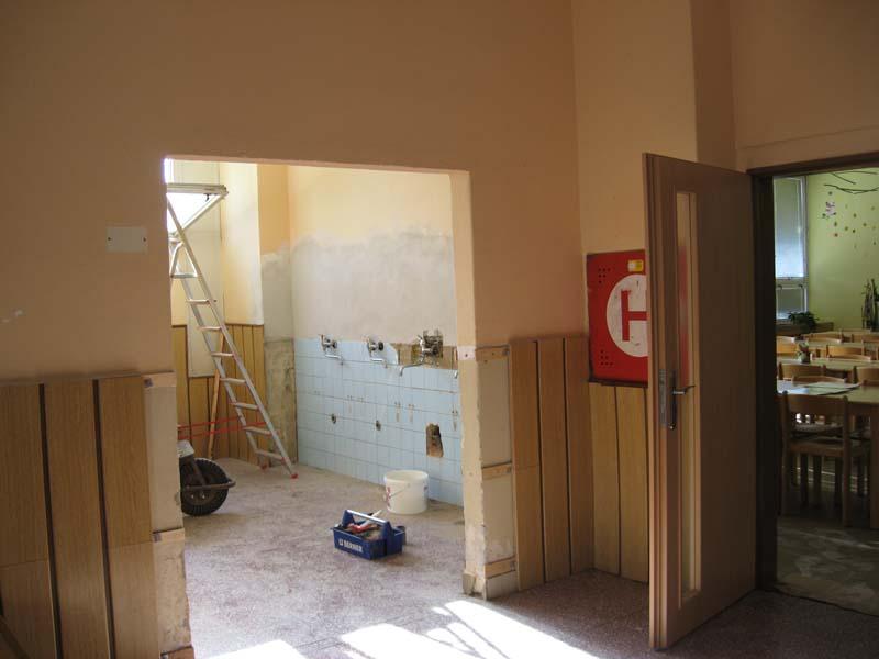 Prázdninové stavební práce na naší škole