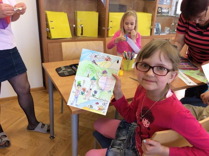 Závěrečná návštěva knihovny před Pasováním prvňáčků na rytíře Řádu čtenářského