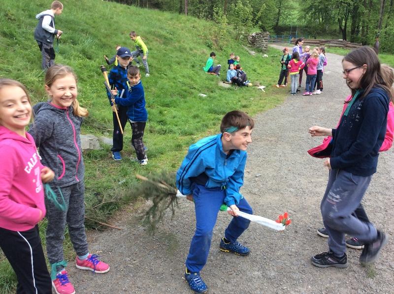 Škola v přírodě poprvé