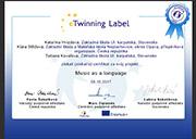 E-twinning certifikát
