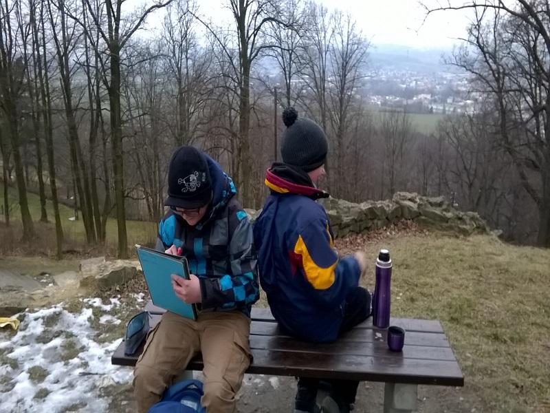Zimní výlet šestých tříd
